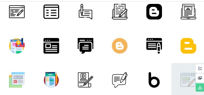 Free Blogger Icons Set