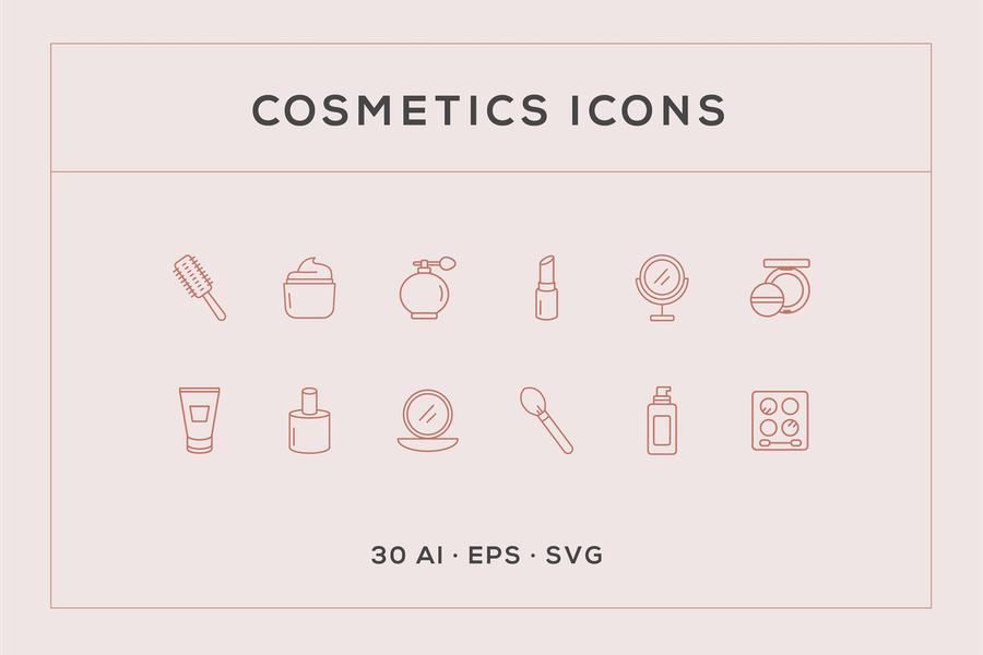 Free Cosmetics Icon Set