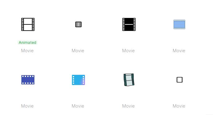 Free Film Icons Set