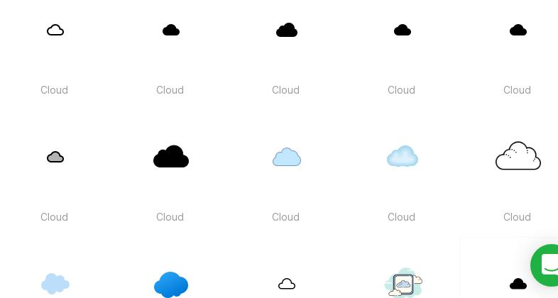 Free Flat Cloud Icons