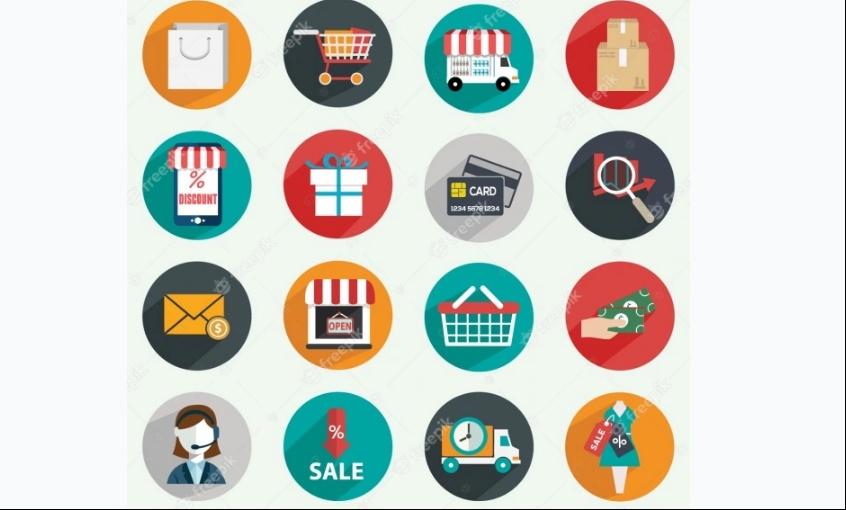 Free Flat Commerce Icons