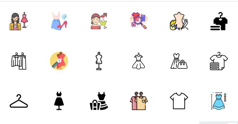 Free Flat Fashion Icons