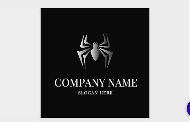 Free Gray Spider Logo