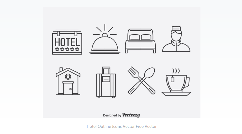 Free Hotel Vector Icons Set