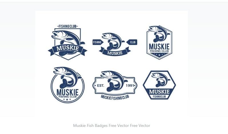 Free Muskie Badges Design