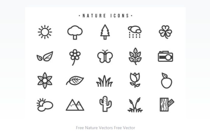 Free Natur Vector Icons