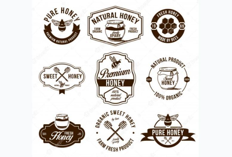 Free Natural Honey Identity Logo