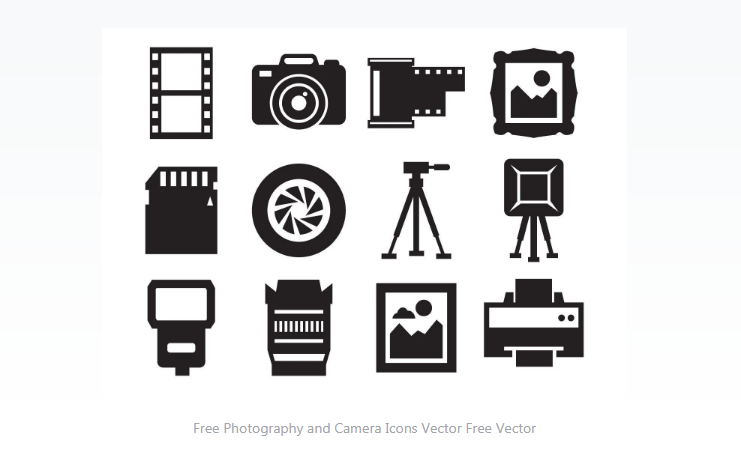 Free Photography and Camera Icons