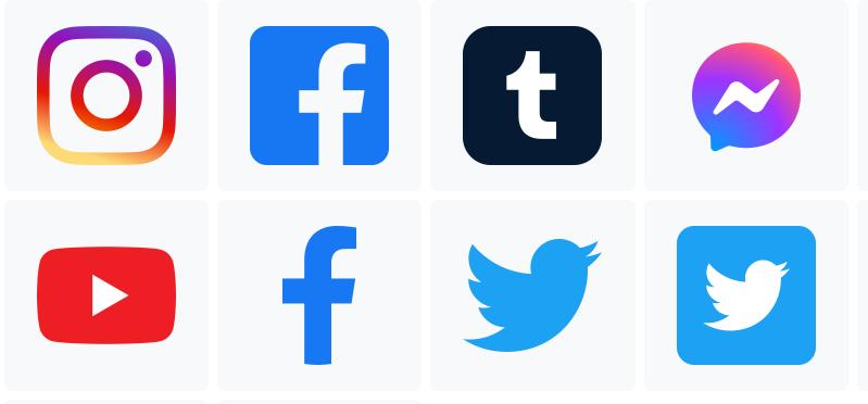 Free Popular Social Media Icons