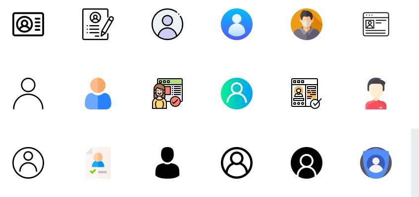 Free Profile Icons Set