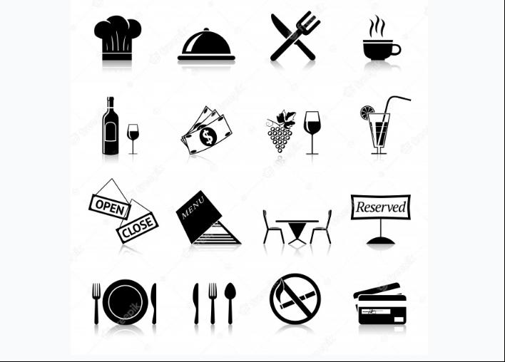 Free Restaurant Black Icons
