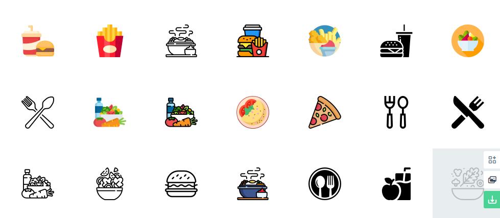 Free Restaurant Food Icons