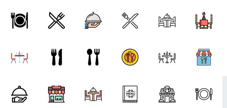 Free Restaurant Icons