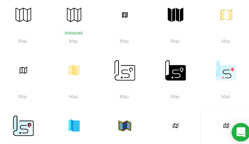 Free Simple Map Icons
