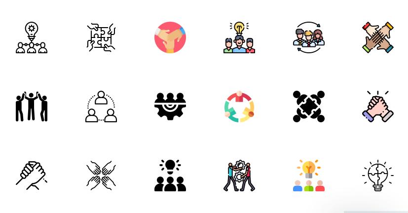 Free Teamwork Icons Vector