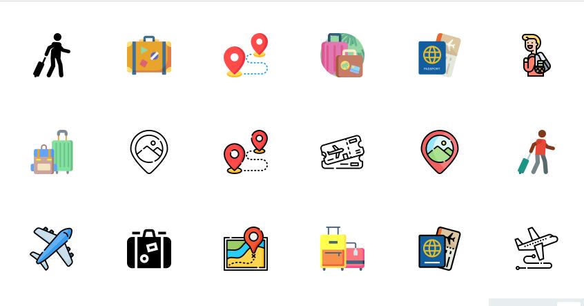 Free Tourism Icons