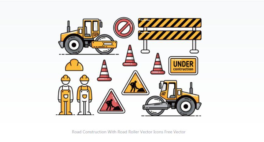 Free Under Construction Vetor Elements