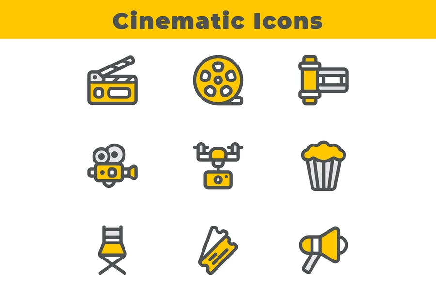 Fully Editable Cinematic Icons