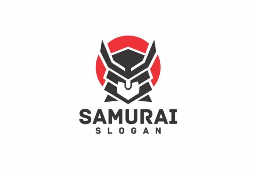 Fully Editable Samurai Logo