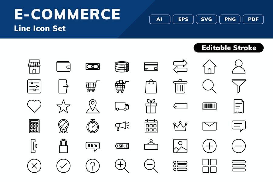 Fully Editable Vector Icon Set