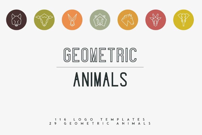 Geometric Animal Logo Design Bundle