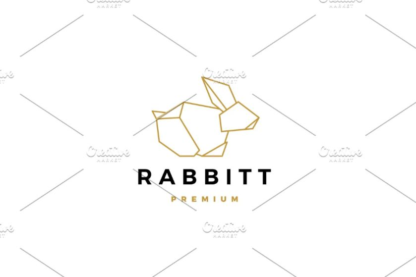 Geometric Hare Logo Design
