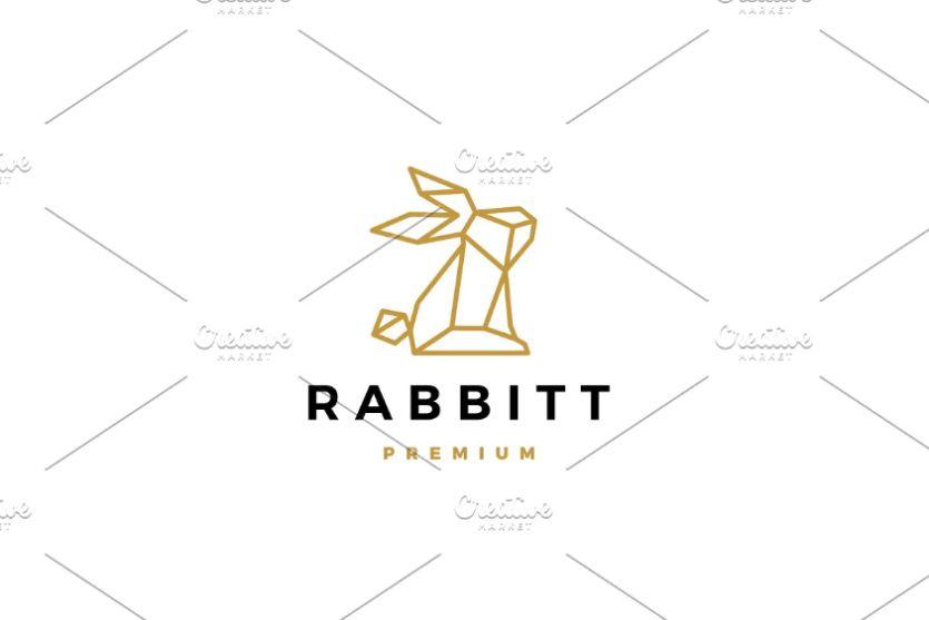 Geometric Style Rabbit Logo