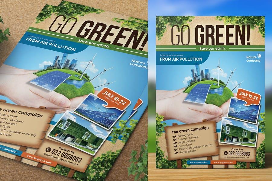Go Green Flyer templates