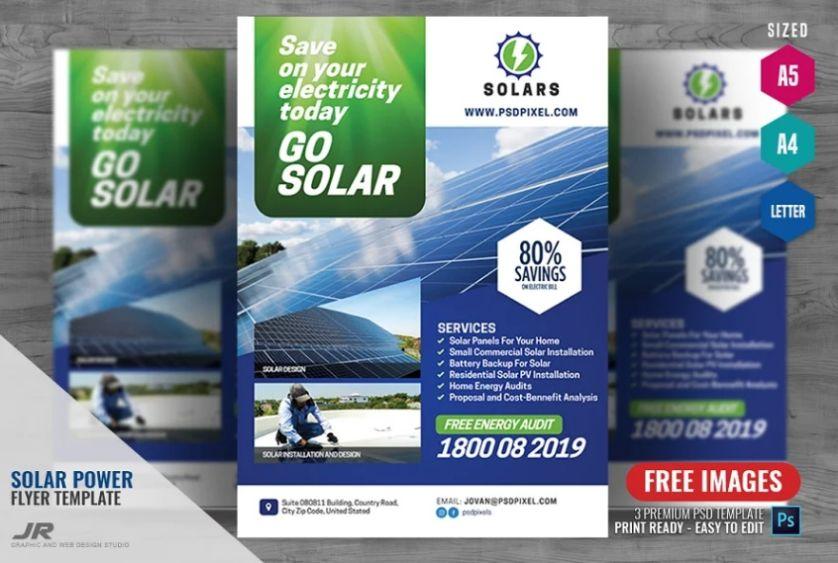 Go Solar Flyer Templates
