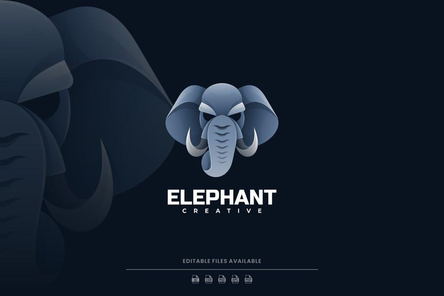 Gradient Style Elephant Logo