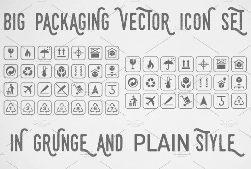 Grunge Vector Style Icons