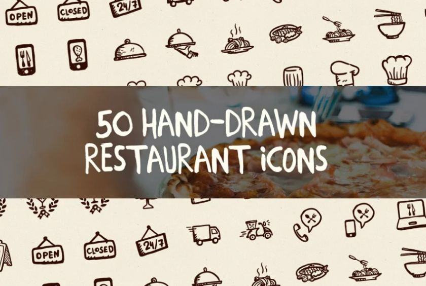 Hand Drawn Doodle Icons Set