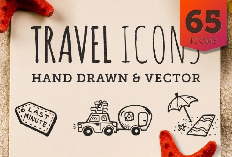 Hand Drawn Travel Icon Set