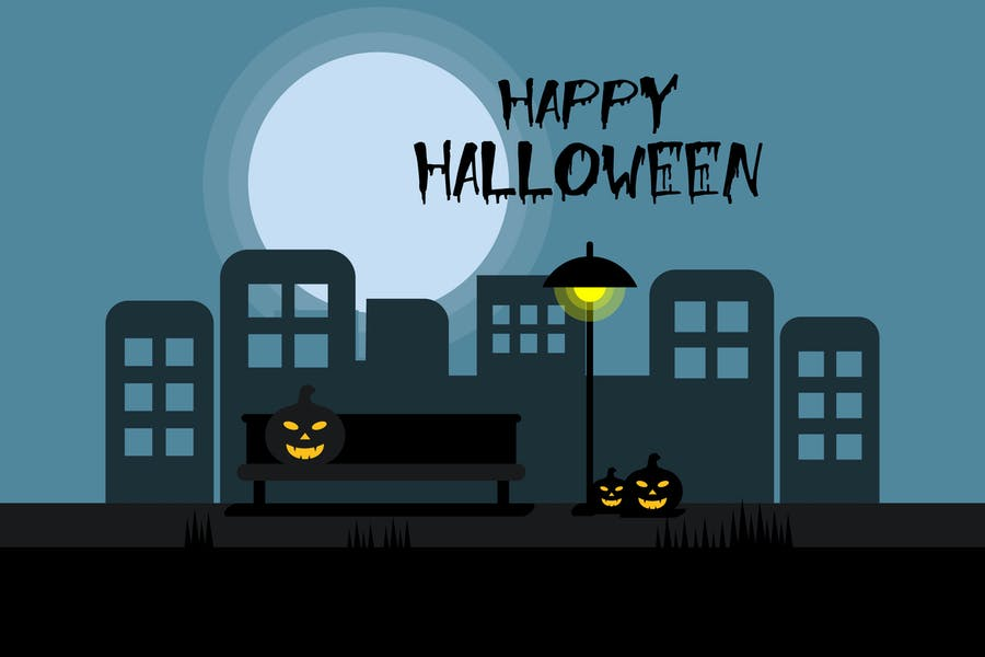 Happy Halloween Illustration Design