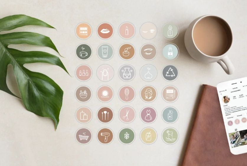Health and Beauty Icons Set