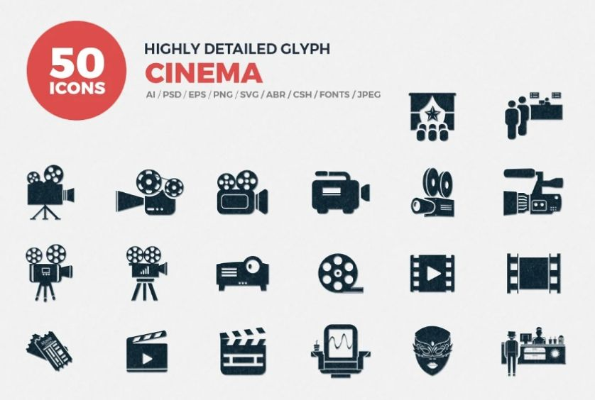 High Detailed Cinema Icons