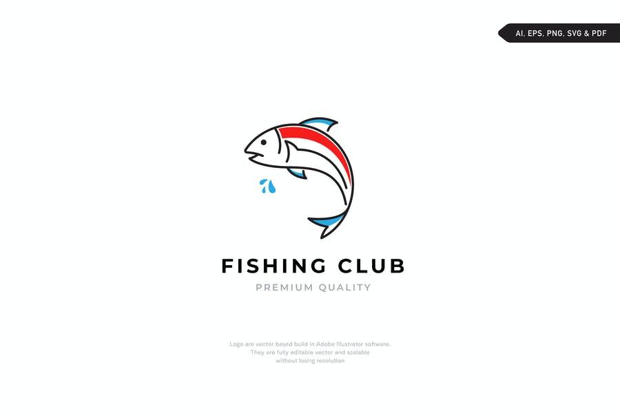 High Qualitry Fishing Club Logo