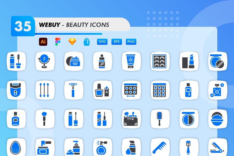 High Quality Beauty Icons Set