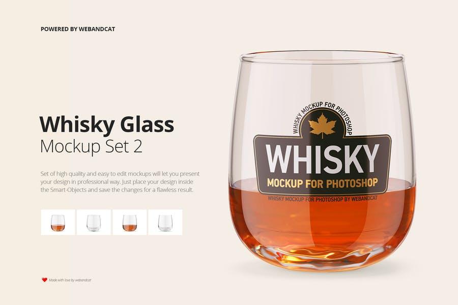 High Quality Whisky Glass PSD