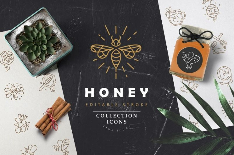 Honey Icons and Logos