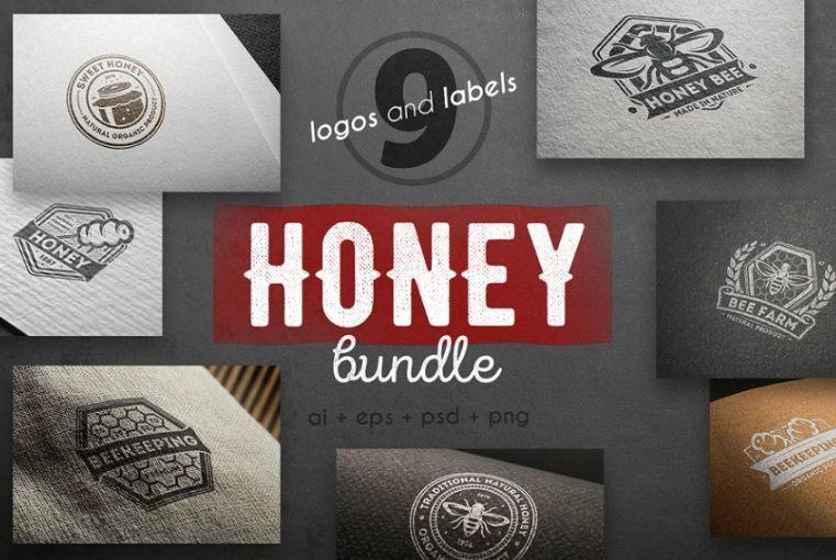 Honey Logos and Badges Bundle