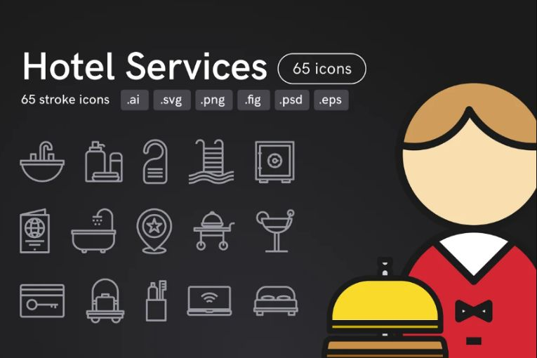 Hotel Services Vector Objects