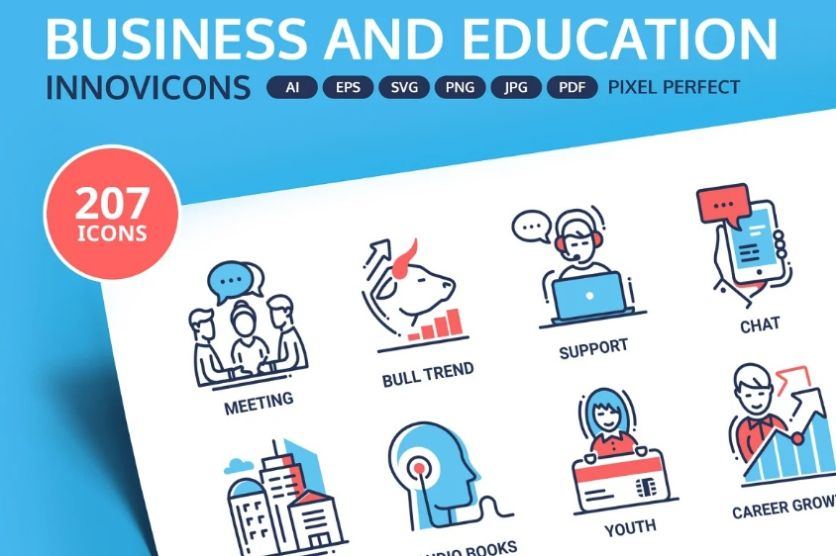 Innovative Business and Education Icons