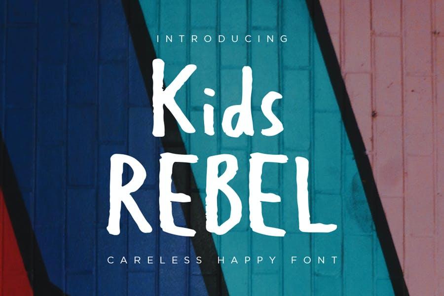 Kids Rebel Typeface