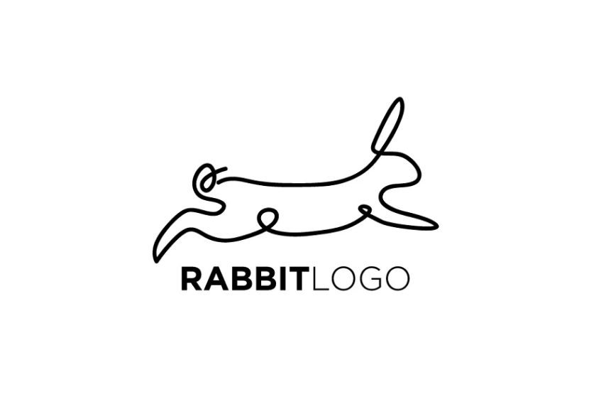 Leaping Rabbit Logo Design