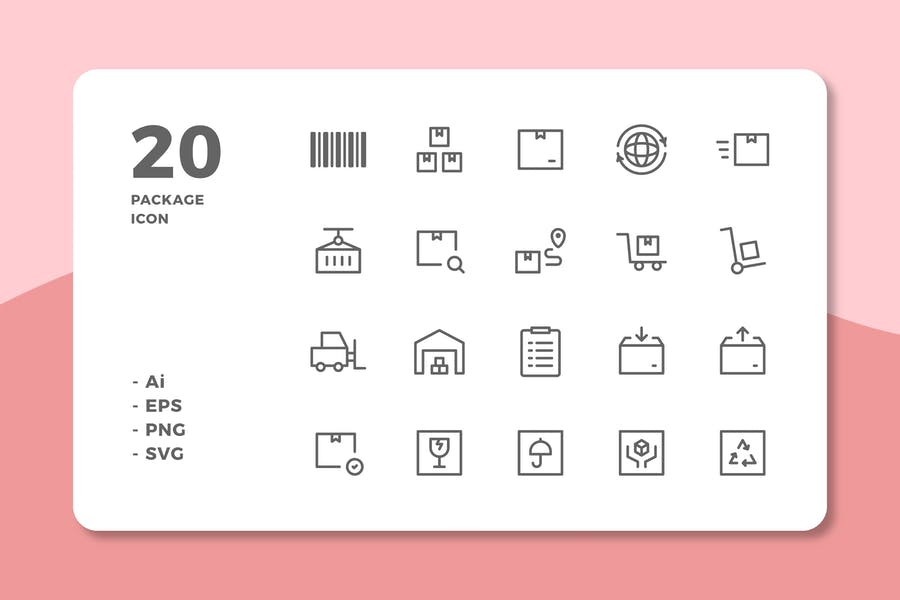 Line Style Package Icons