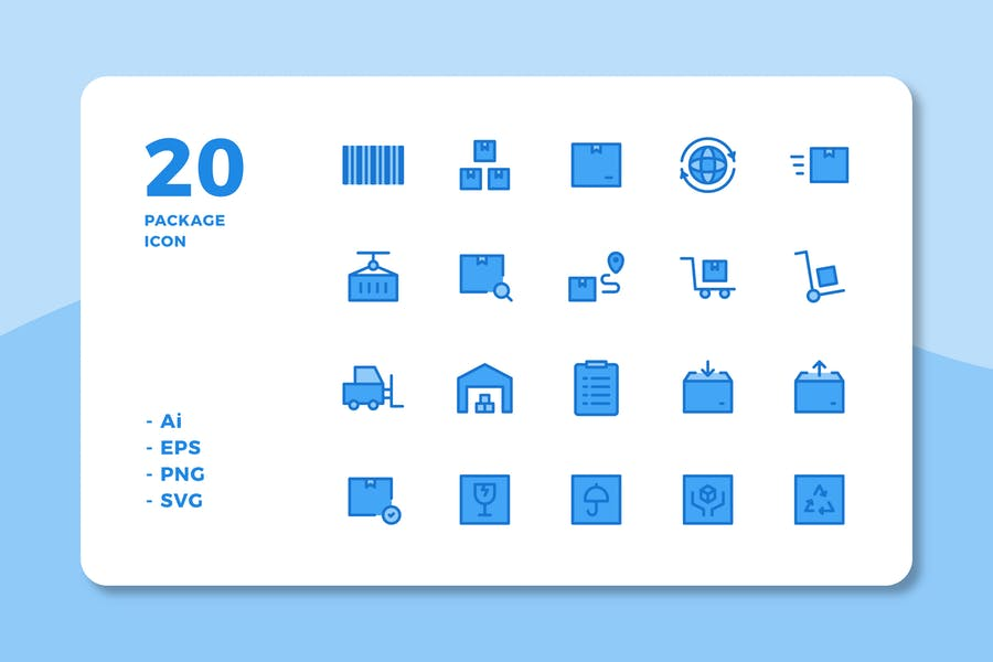 Linear Style Package Icons