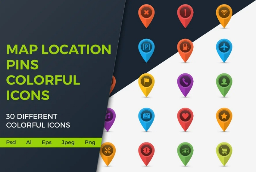 Location Pin Icons Set
