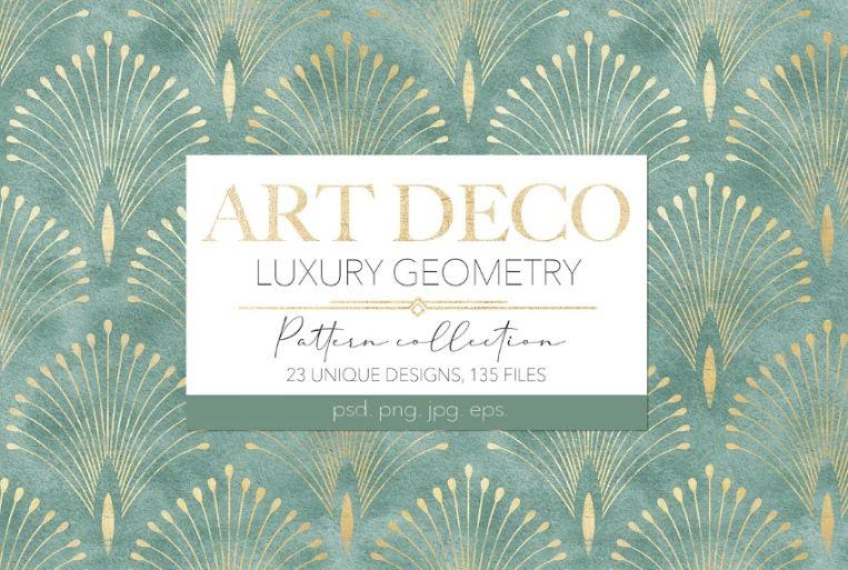 Luxurious Art Deco Backgrounds