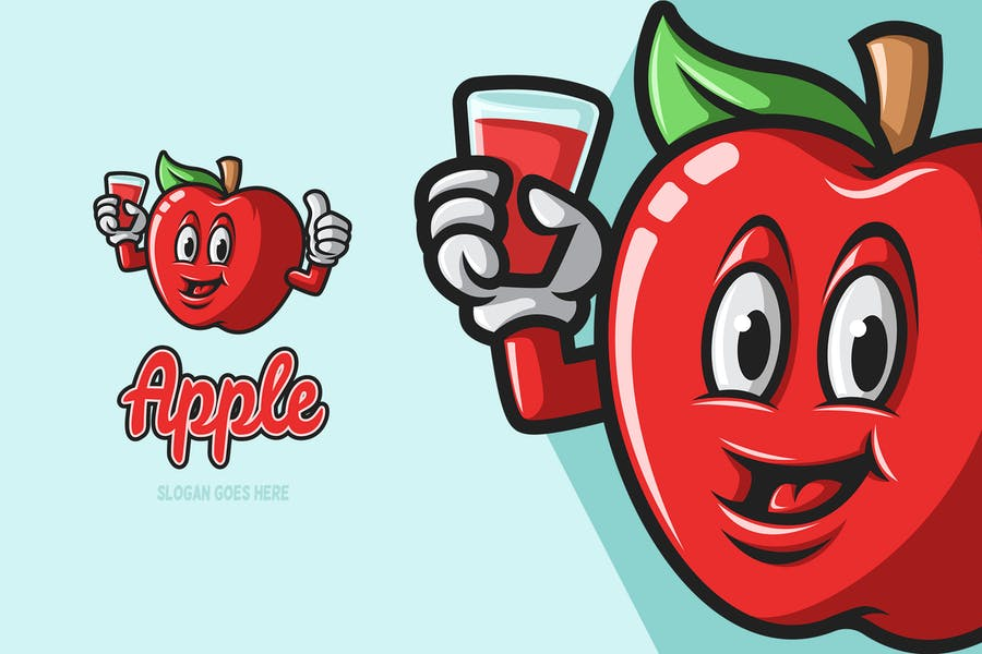 Mascot Style Apple Identity